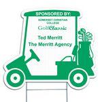 Golf Cart Corrugated Vinyl Die Cut Yard Sign (24