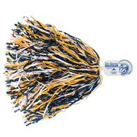 500-Streamer Pom Poms w/Mascot Handle - Spartan/ Indian/ Knight End