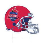 Football Helmet 2 Corrugated Vinyl Die Cut Yard Sign (18.75