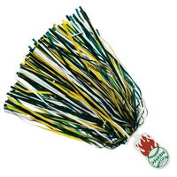 500-Streamer Pom Poms with Mascot Handle - Round End