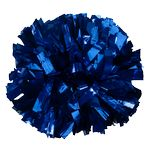 1000-Streamer Metallic Cheer Pom Poms - One Solid Color