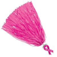 500-Streamer Pom Poms w/Mascot Handle - Ribbon End