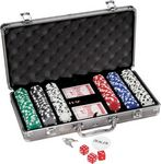 Custom 300 Piece Titanium Poker Set