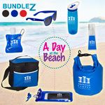 Custom A Day At The Beach Bundle Set w/Dry Bag & Cooler