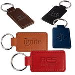Custom Tuscany PU Leather Rectangle Key Ring