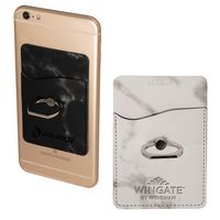 Tuscany™ Marble Card Holder w/Metal Ring Phone Stand