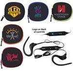 Custom Sport Bluetooth Earbuds in Zipper Case