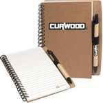 Custom Stone Paper Spiral Notebook w/Pen Combo