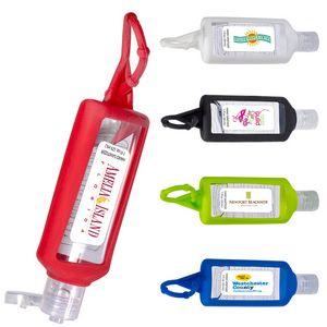 1 Oz. Hand Sanitizer w/Silicone Holder