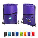Custom Incline Drawstring Backpack w/Zipper