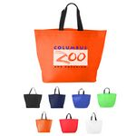 Custom Two Tone Heat Sealed Non-Woven Shopper Bag