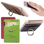 Custom Tuscany Card Holder with Metal Ring Phone Stand