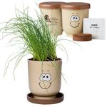Custom Goofy Group Grow Pot Eco-Planter w/Chive Seeds