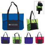 Custom Jumbo Trade Show Tote w/Front Pockets
