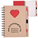 EcoShapes™ Recycled Die Cut Notebook (Heart)