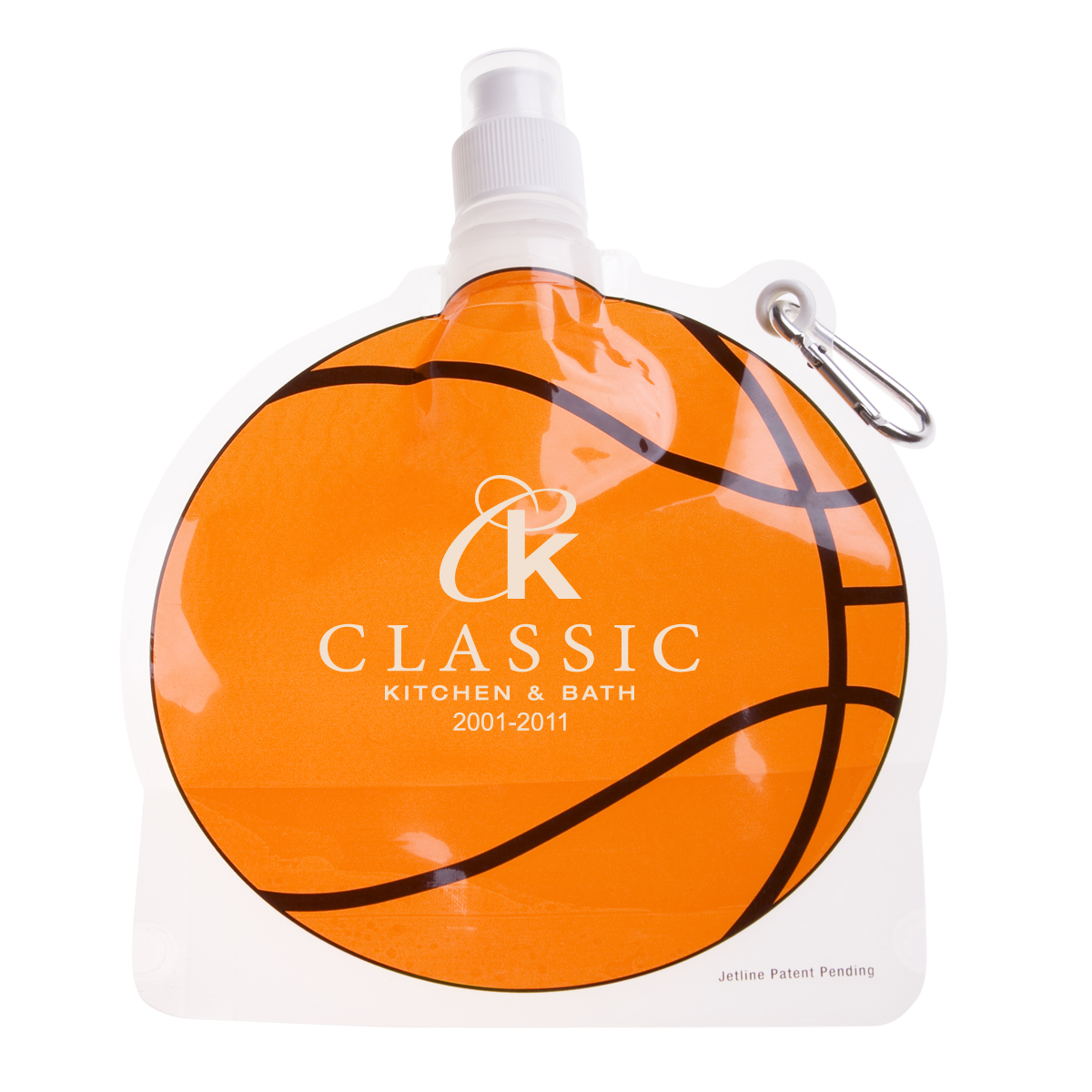 HydroPouch™ 24 Oz. Basketball Collapsible Water Bottle