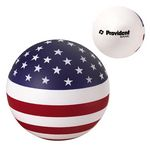 Custom USA Patriotic Round Ball Stress Reliever