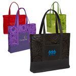 Custom Textured Non-Woven Tote Bag w/PU Base