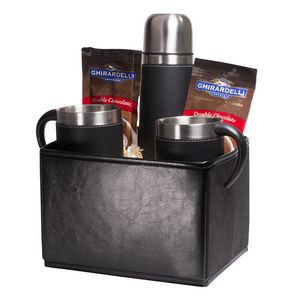 Custom Tuscany Thermal Bottle & Cups Ghirardelli Cocoa Set