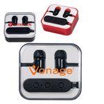 Custom Wireless Bluetooth Earbuds in Case