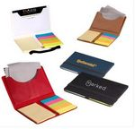 Custom Business Card Sticky Pack w/Microfiber Cleaning Cloth