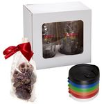 Custom Avalon Clear Tumbler Set with Chocolate Covered Pretzels