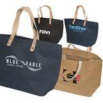 Custom Hamptons Jute Tote Bag