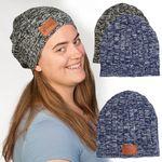 Custom Leeman Heathered Knit Beanie