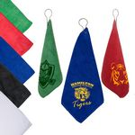 Custom Microfiber Golf Towel w/Grommet & Hook