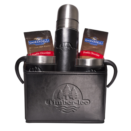 Empire™ Thermal Bottle & Cups Ghirardelli® Cocoa Set