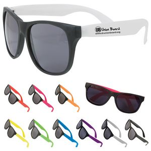 Two-Tone Matte Sunglasses