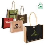 Custom Milan Jute Tote Bag