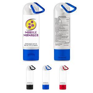 2 Oz. SPF 30 Sunscreen w/Carabiner