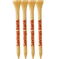 """4 Pack of Wood Golf Tees (2 3/4"""")"""