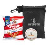 Baseball w/Cracker Jacks in Valuables Pouch