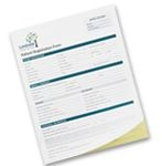 Custom Short Run Full Color Custom Business Forms - 2 Part (5 ½