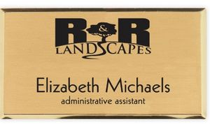 Engraved Metallic Gold Name Badges (1