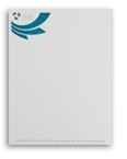 Custom Spot Color Business Advantage & Premium Stock Letterhead - Strathmore 24 Lb.