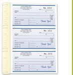 Custom Receipt Form Books - 2 Part (6 ½