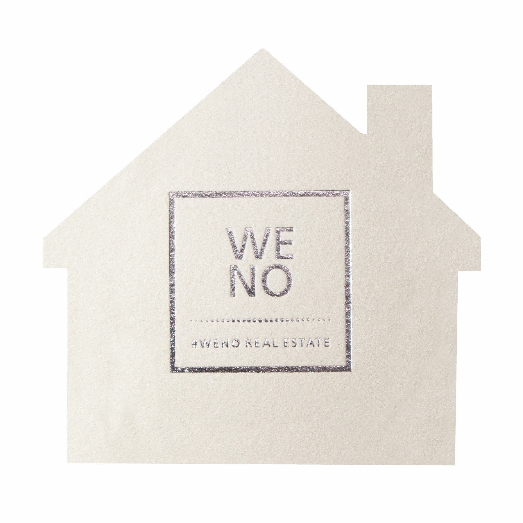 Foil Stamped 40 pt., House - White High Density Coasters - The 500 Line