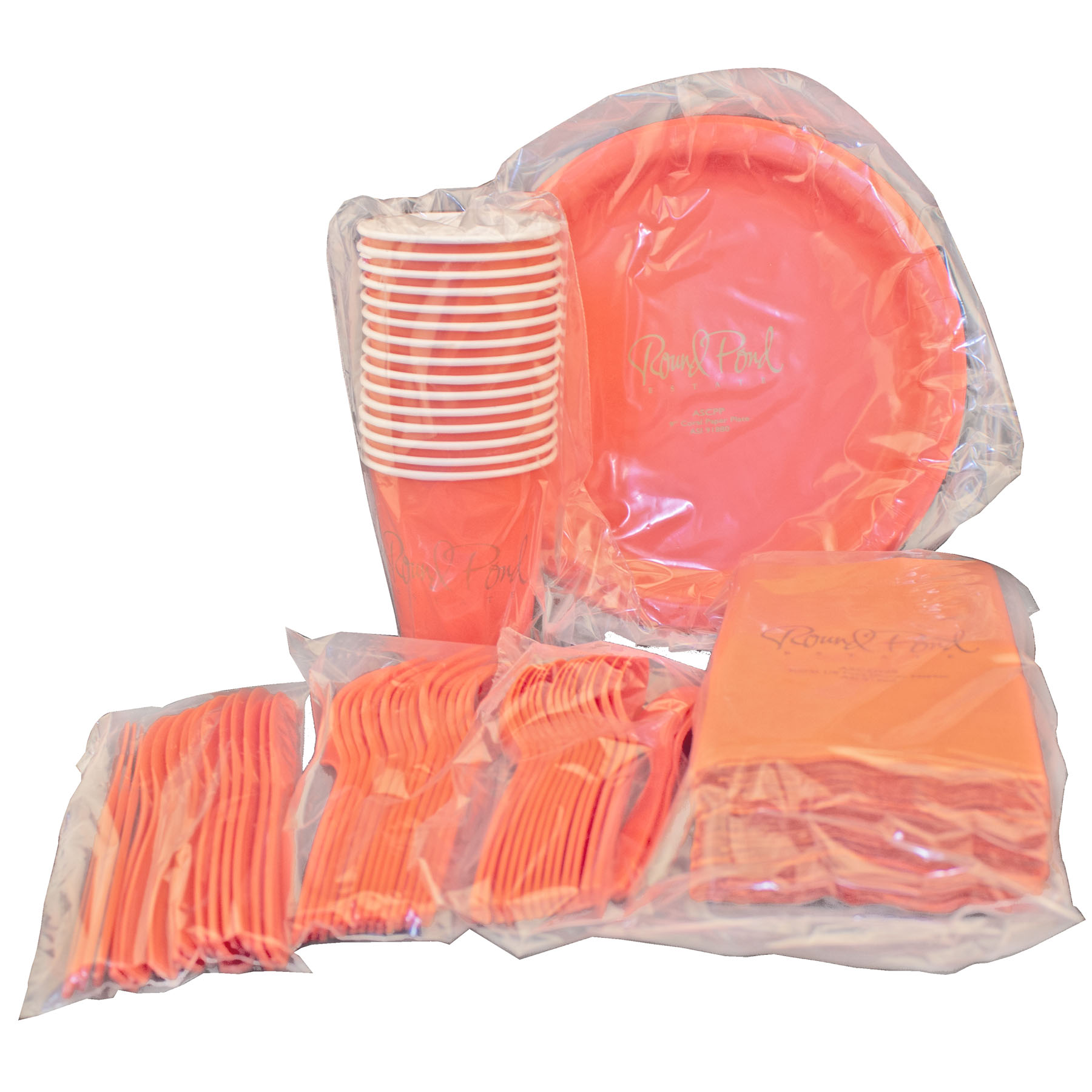 Paper Set Packaged in Disposable Bag - Tailgater Set - The 500 Line