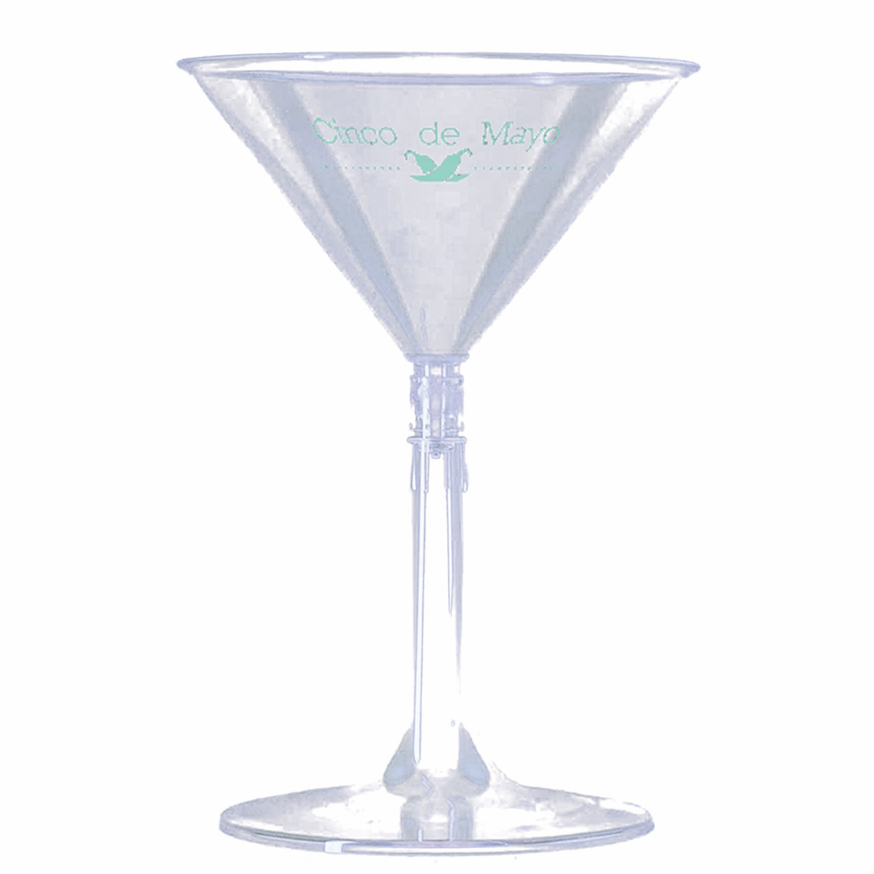 6 Oz. 2-Piece Martini Glass - Specialty Cups - The 500 Line