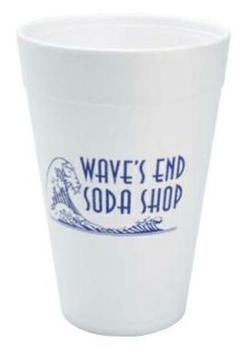 32 Oz. Foam Cups - High Lines