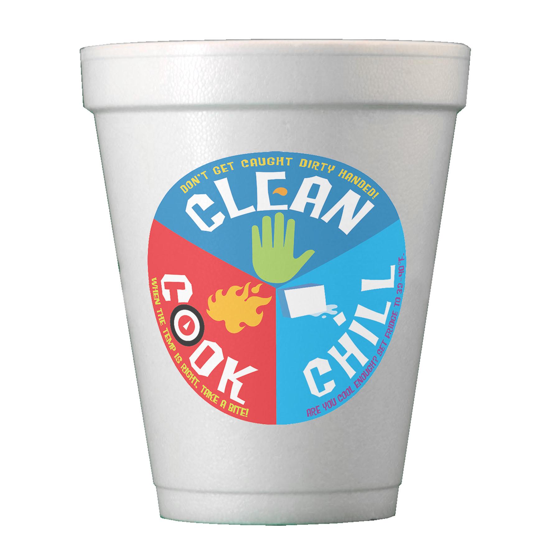 Digital 10 Oz. Foam Cups - TGI Digital