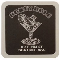 "40 Pt. 4"" Square Coaster - White High Density Coasters - The 500 Line"