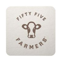 "45 Pt. Natural 3.5"" Square - White Pulpboard Coasters - The 500 Line"