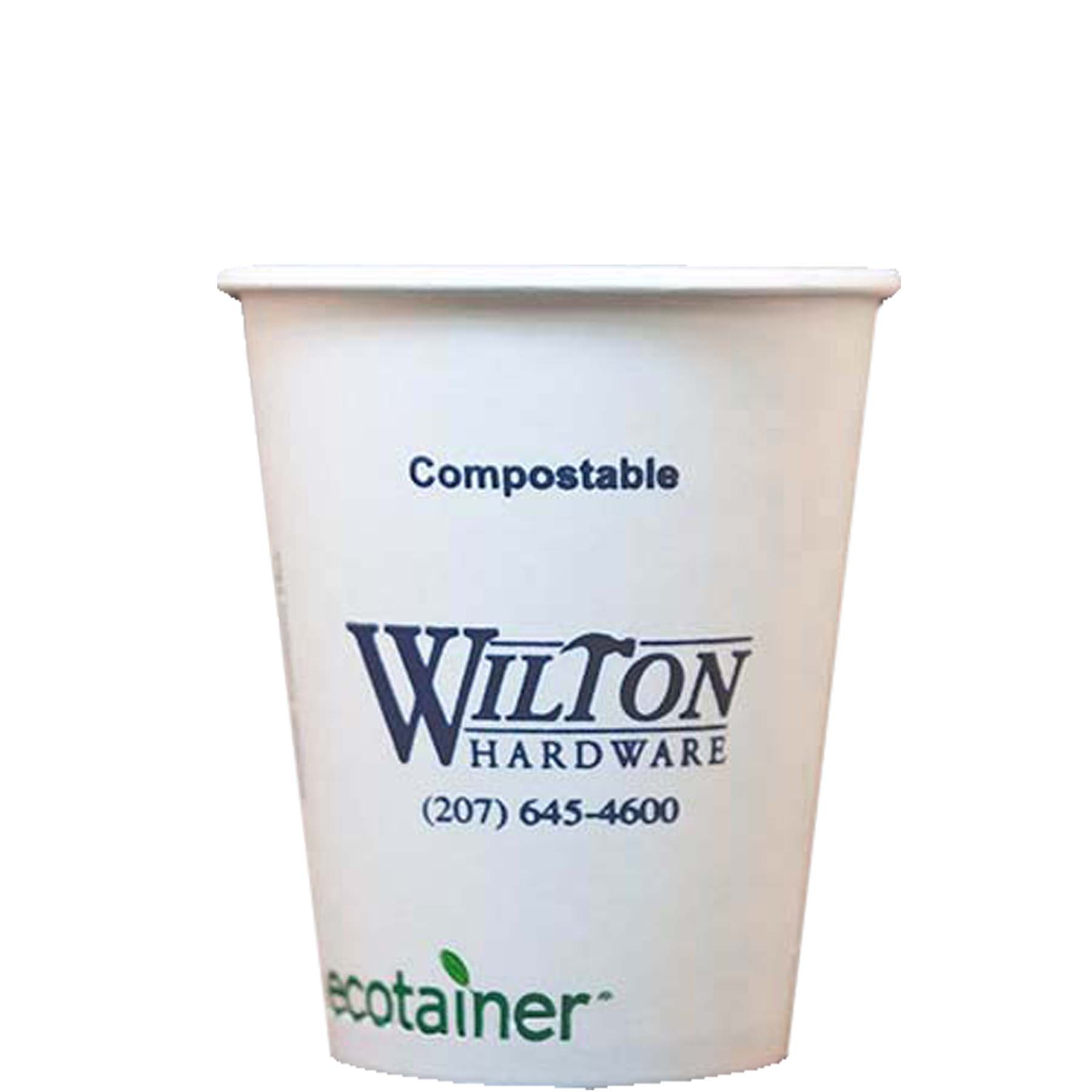 12 Oz. Eco-Friendly Solid White Cups - High Lines