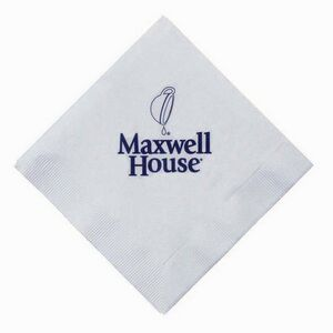 5x5 White 3-Ply Beverage Napkins - High Lines