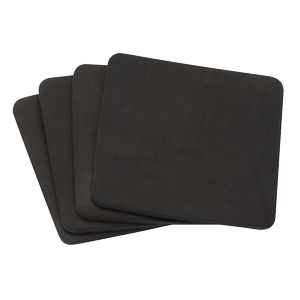 TANNER Set of 4 Leather Coasters