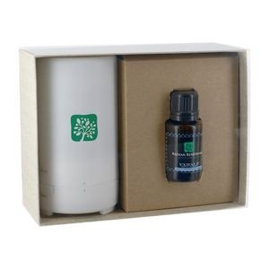 Electronic Diffuser with 15 Ml. Dropper Bottle Essential Oil in Gift Box
